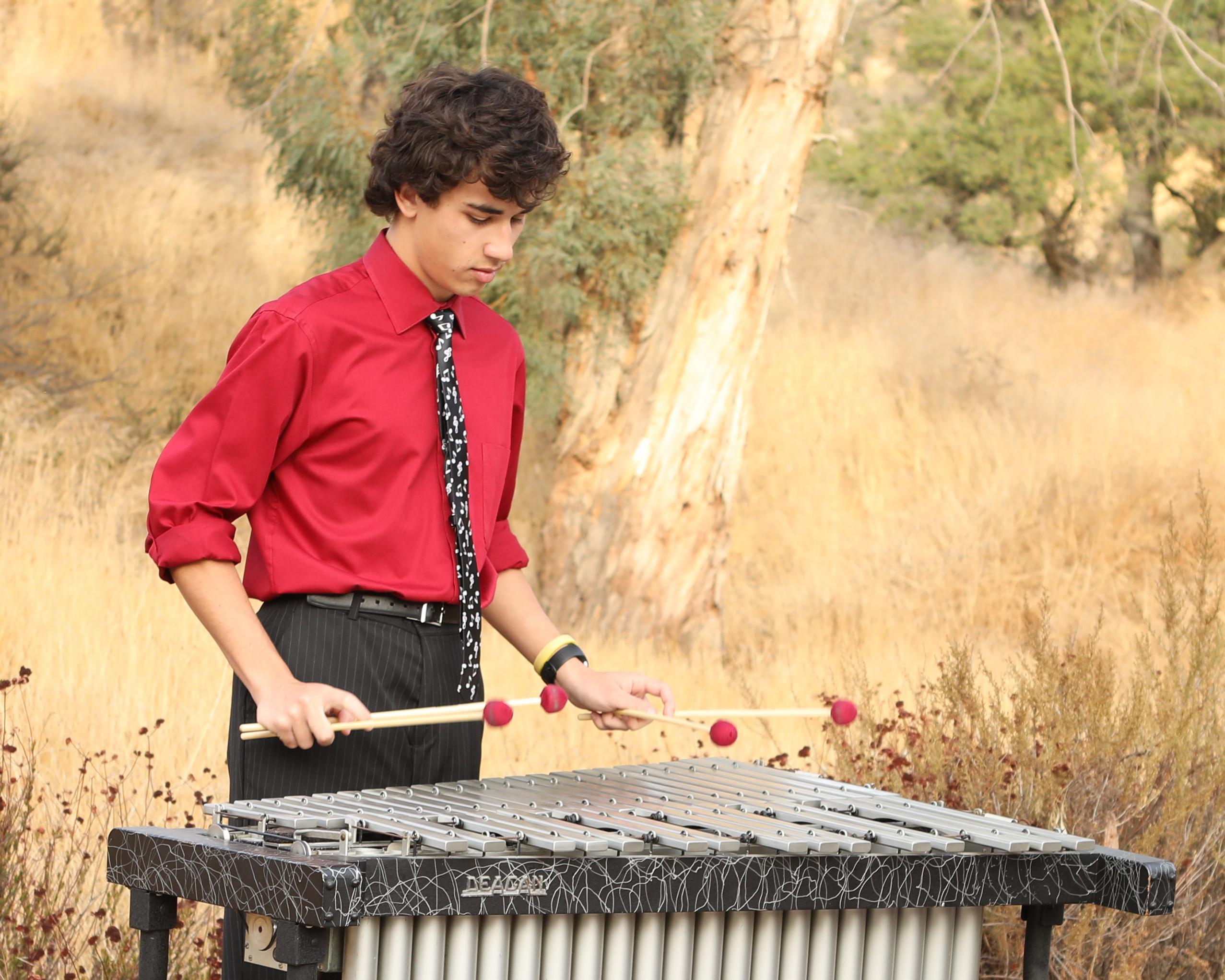 Robby Good playing vibraphone